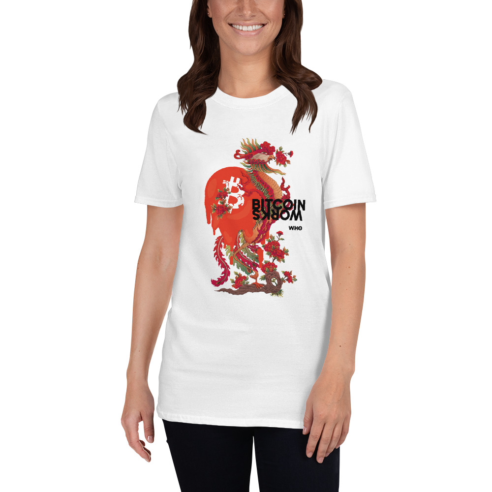 WEH0DL Bitcoin Red Dragon T Shirt FRONT GRAPHIC FIFTH VIEW