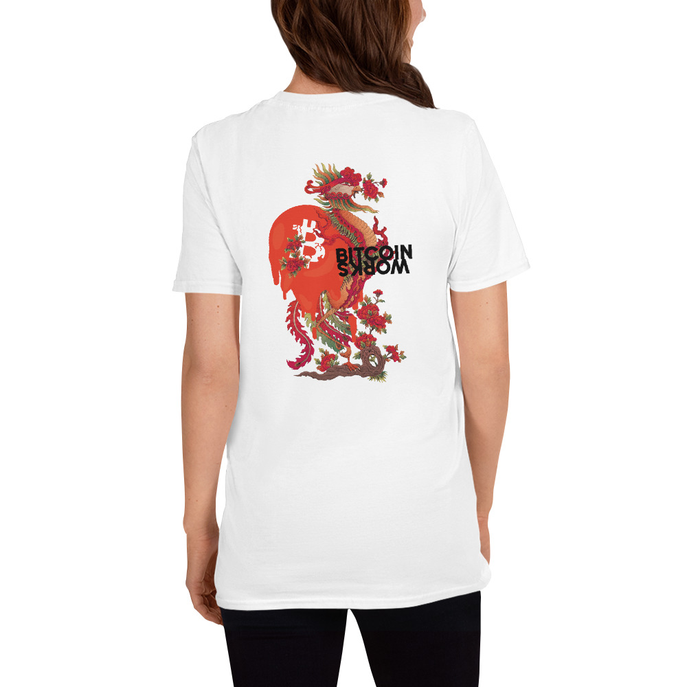WEH0DL Bitcoin Red Dragon T Shirt FRONT AND BACK GRAPHIC FIFTH VIEW