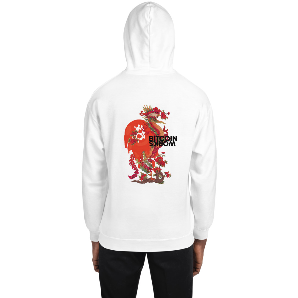 WEH0DL Bitcoin Red Dragon Hoodie – FRONT AND BACK GRAPHIC SIXTH VIEW