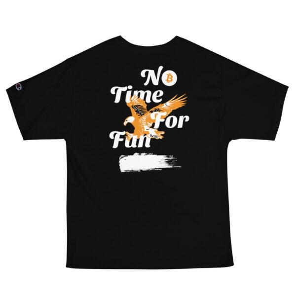 WEH0DL Bitcoin Orange Eagle Prep T Shirt – BLACK 1