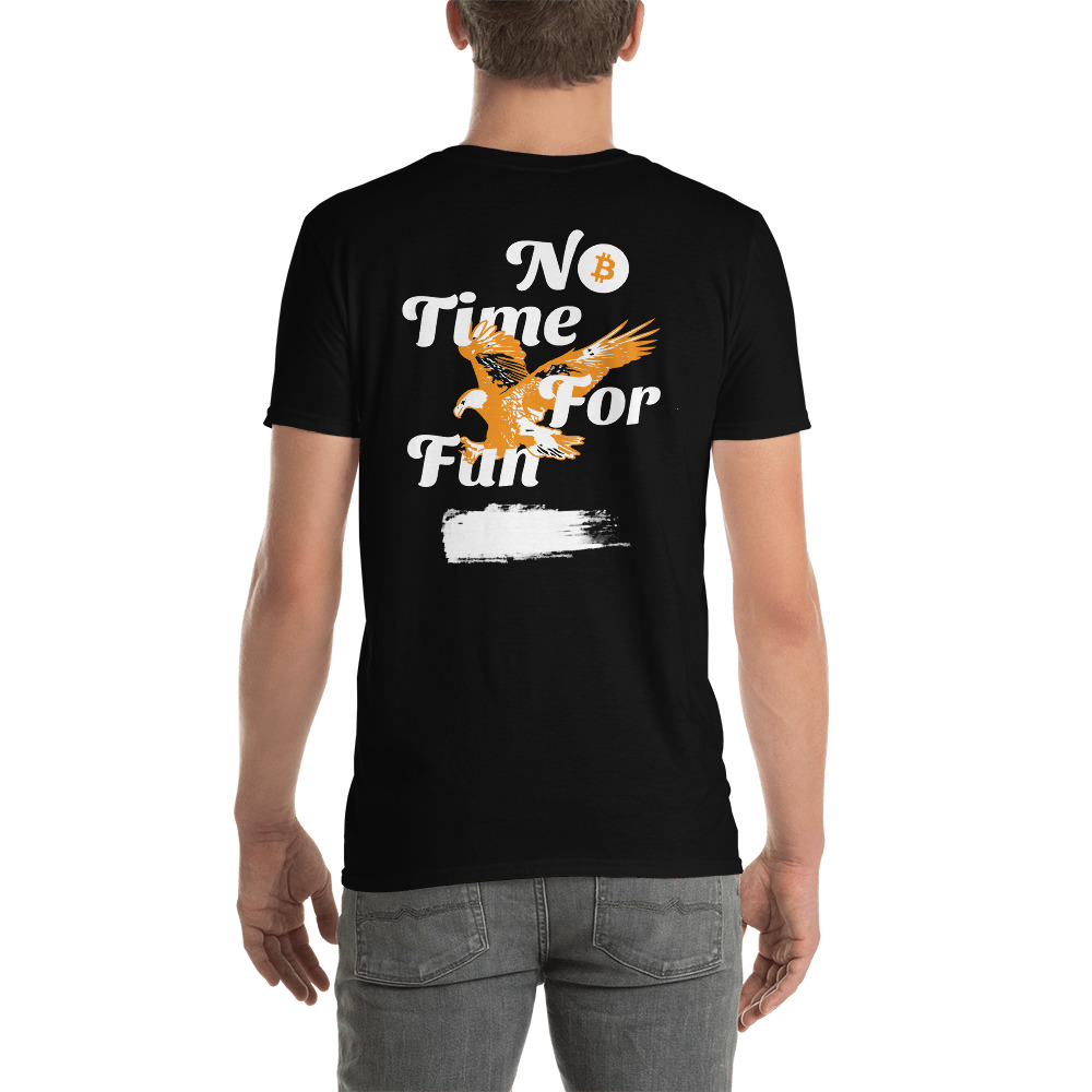 WEH0DL Bitcoin Orange White Eagle T Shirt BACK GRAPHIC – FOURTH VIEW