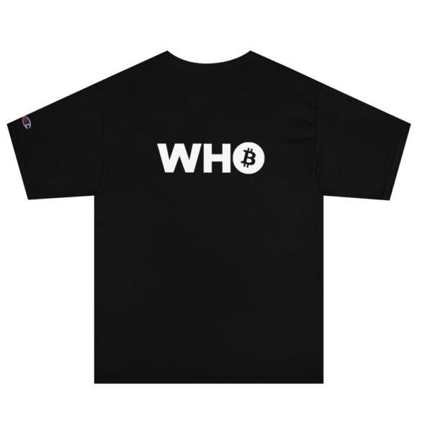 WHO Bitcoin Classic T Shirt – BLACK – 2