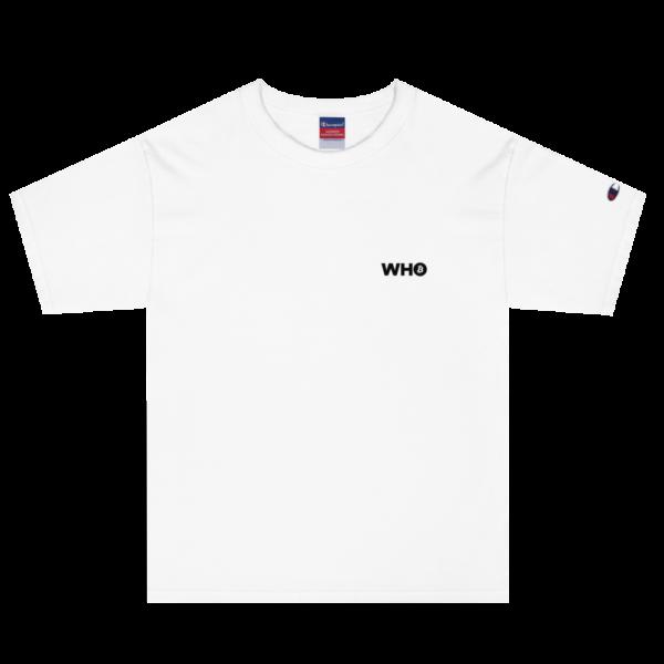 WHO Bitcoin Classic T Shirt – WHITE – 1