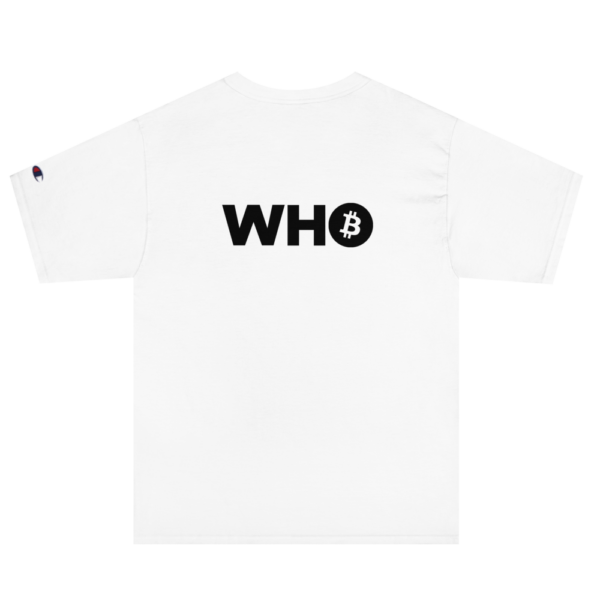 WHO Bitcoin Classic T Shirt – WHITE – 2
