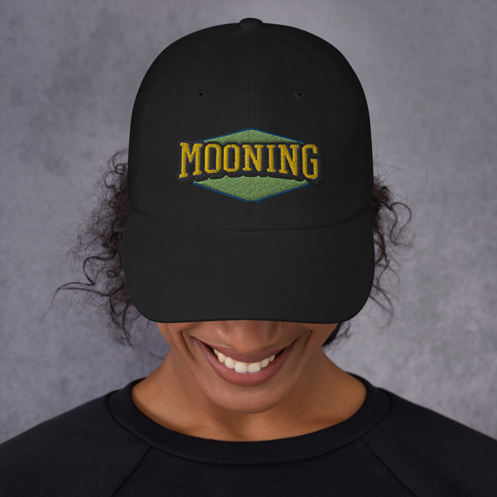 Mooning 3 collection 2 mockup Front Womens Black 1