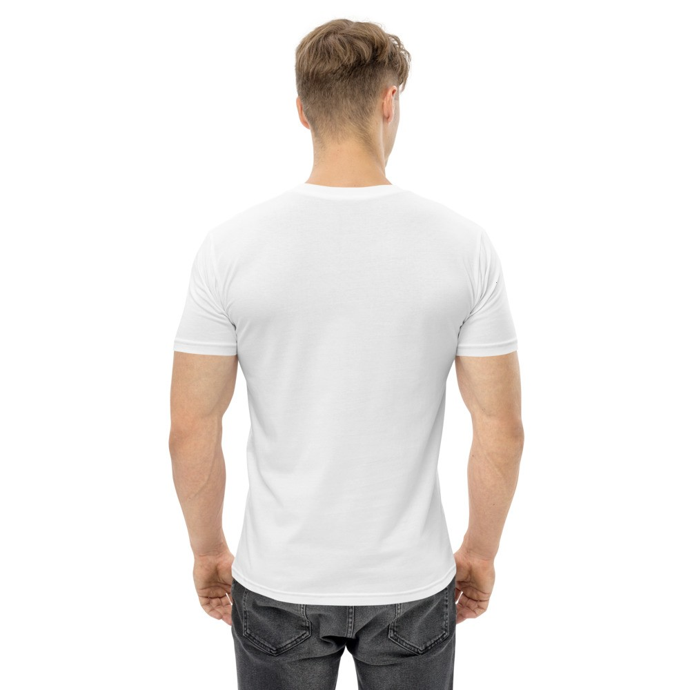 WEH0DL Blockchains Classic T Shirt WHITE – FRONT GRAPHIC FOURTH VIEW