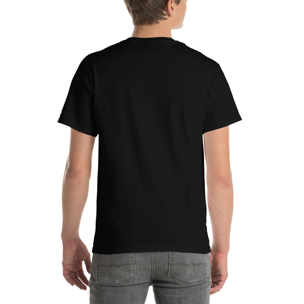 WEH0DL DYOR Bold Black T Shirt FRONT GRAPHIC FOURTH VIEW