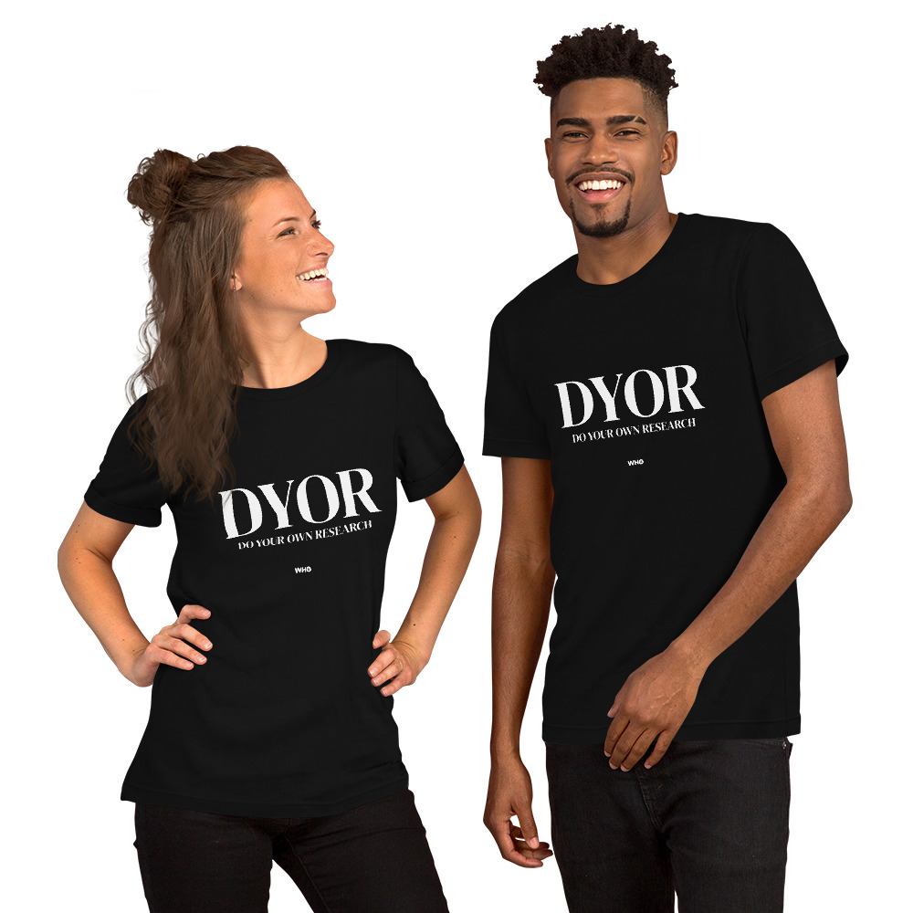 WEH0DL DYOR Classic Black T Shirt FRONT GRAPHIC – NINTH VIEW
