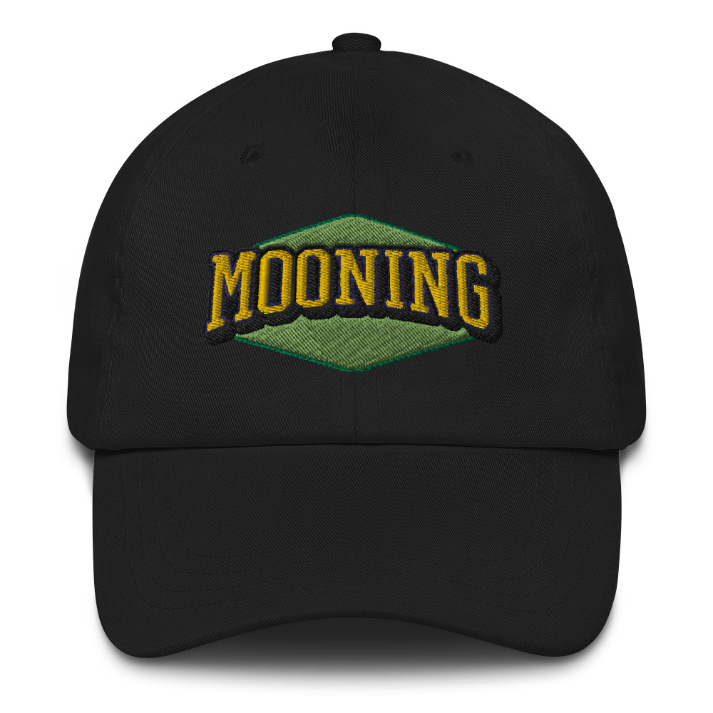 WEH0DL MOONING Classic Dat Hat – BLACK FRONT GRAPHIC – FIRST VIEW 1