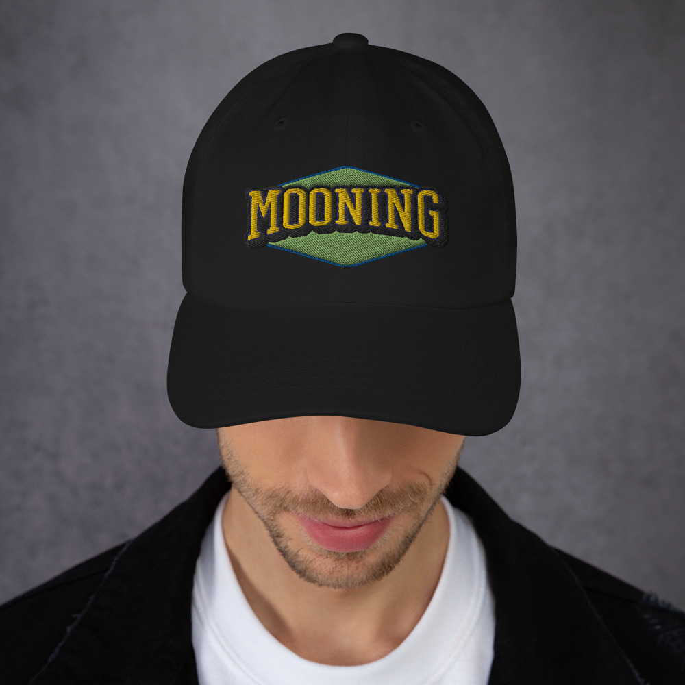 WEH0DL MOONING Classic Dat Hat – BLACK FRONT GRAPHIC – SECOND VIEW