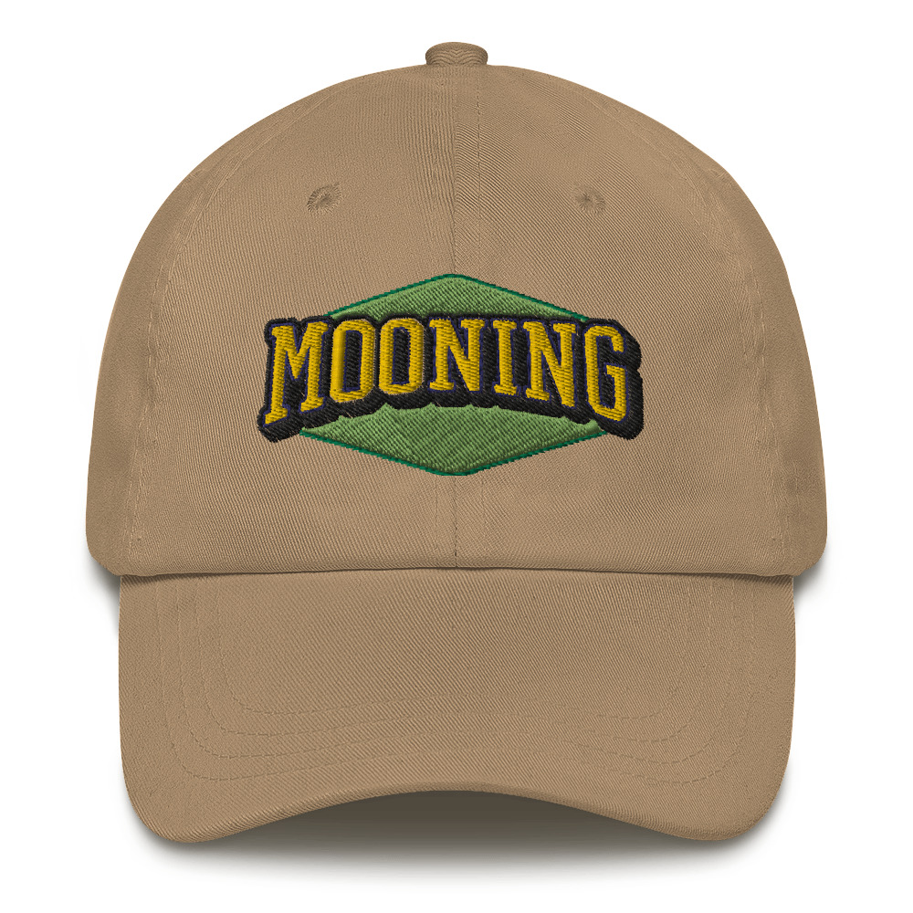 WEH0DL MOONING Classic Dat Hat – KHAKI FRONT GRAPHIC – FIRST VIEW 1