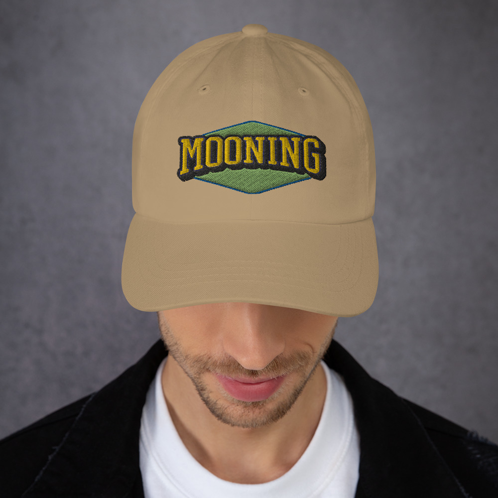 WEH0DL MOONING Classic Dat Hat – KHAKI FRONT GRAPHIC – SECOND VIEW