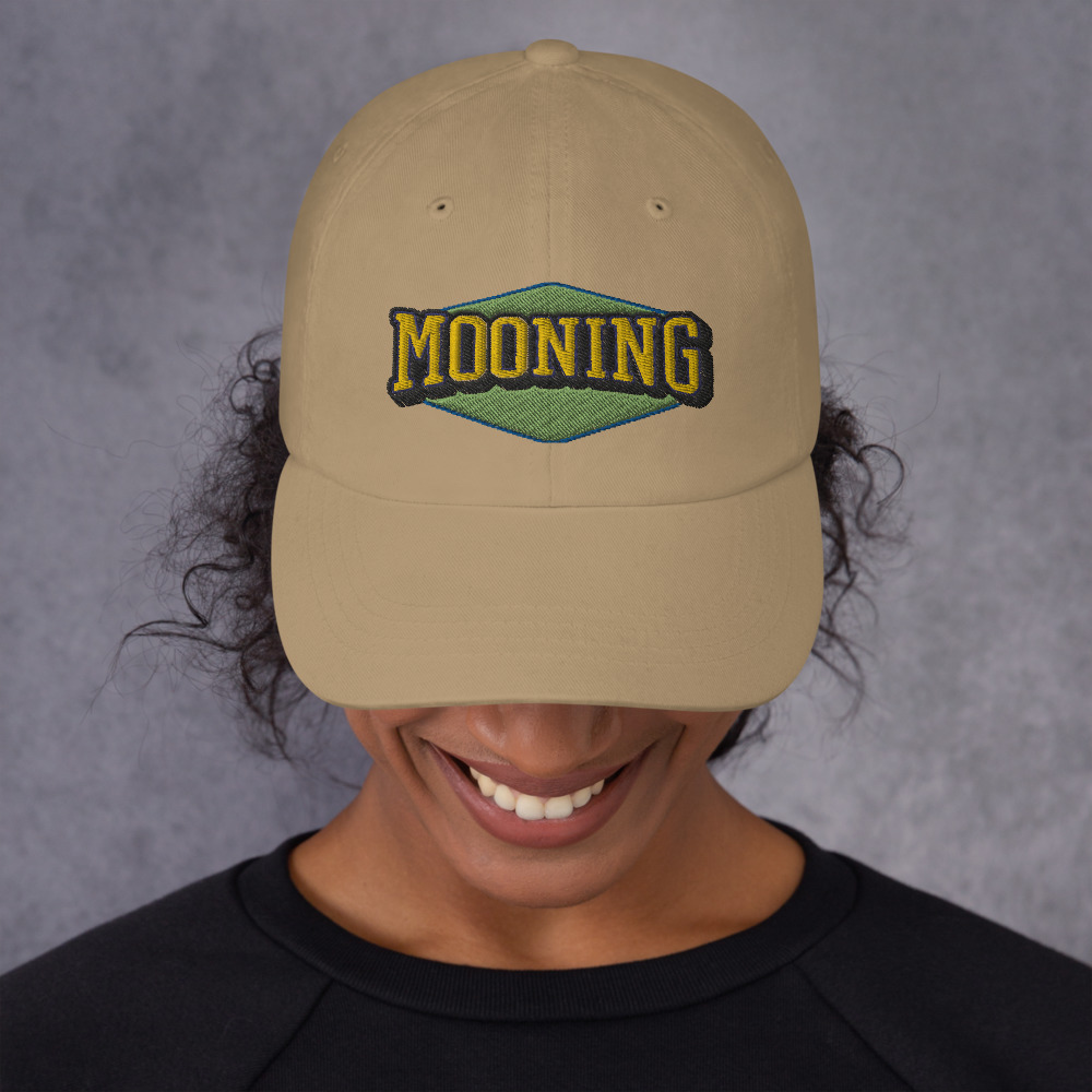 WEH0DL MOONING Classic Dat Hat – KHAKI FRONT GRAPHIC – THIRD VIEW