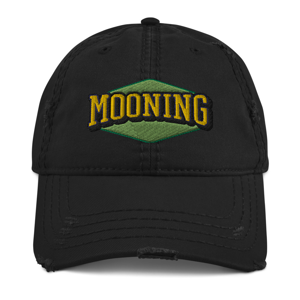 WEH0DL MOONING Dat Hat in Used Look – BLACK – FRONT GRAPHIC – FIRST VIEW