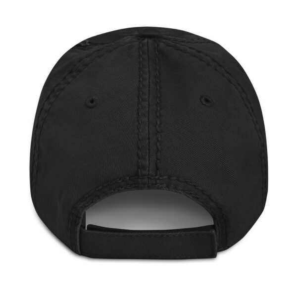 WEH0DL MOONING Dat Hat in Used Look – BLACK – FRONT GRAPHIC – FOURTH VIEW 1 1