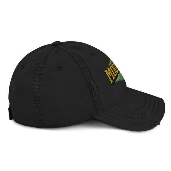 WEH0DL MOONING Dat Hat in Used Look – BLACK – FRONT GRAPHIC – SECOND VIEW