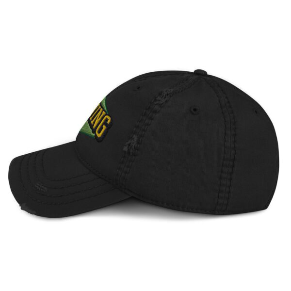 WEH0DL MOONING Dat Hat in Used Look – BLACK – FRONT GRAPHIC – THIRD VIEW 1