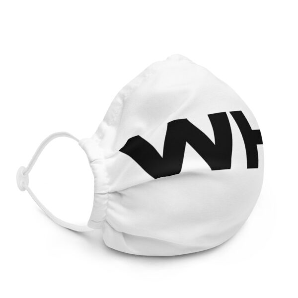 WEH0DL WHO Bitcoin Facemask – WHITE – FRONT GRAPHIC – SECOND VIEW 3