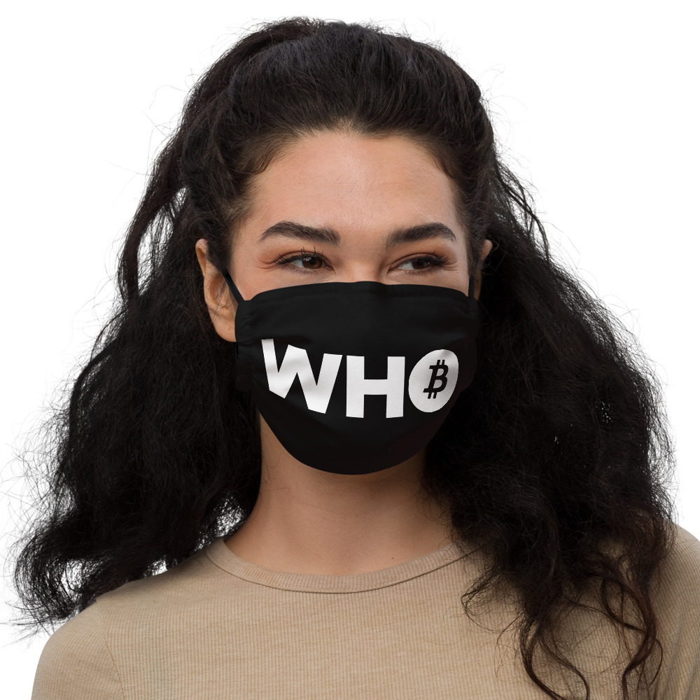 WEH0DL WHO Bitcoin Facemask BLACK – FRONT GRAPHIC FIFTH VIEW