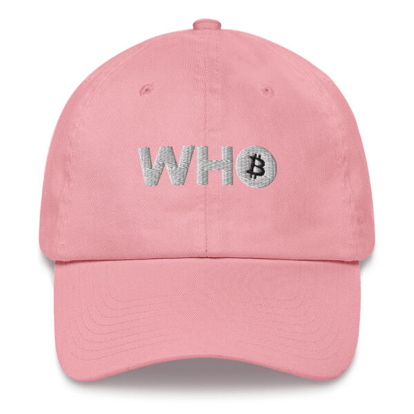 WEH0DL WHO Classic Crypto Cap LIMITED EDITION – PINK AND WHITE 1