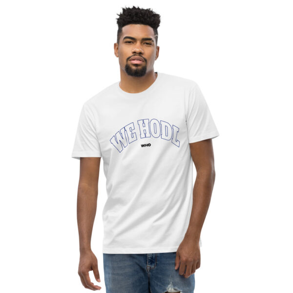 WE H0DL Classic T Shirt – WHITE – FRONT GRAPHIC – FIFTH VIEW