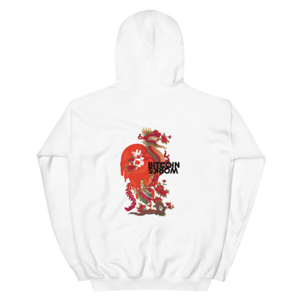WEH0DL Bitcoin Red Dragon Hoodie – WHITE – 1