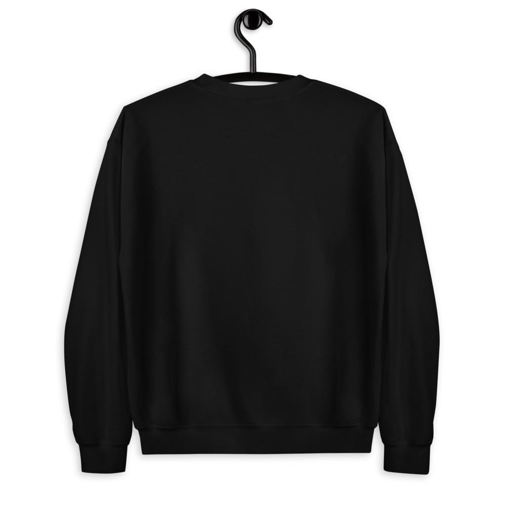 WEH0DL Crew Neck Sweatshirt – BLACK FRONT GRAPHIC – SECOND VIEW