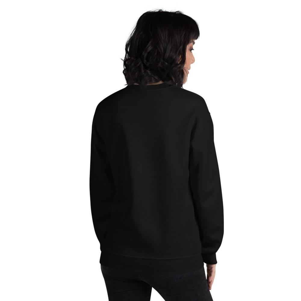 WEH0DL Crew Neck Sweatshirt – BLACK FRONT GRAPHIC – SIXTH VIEW