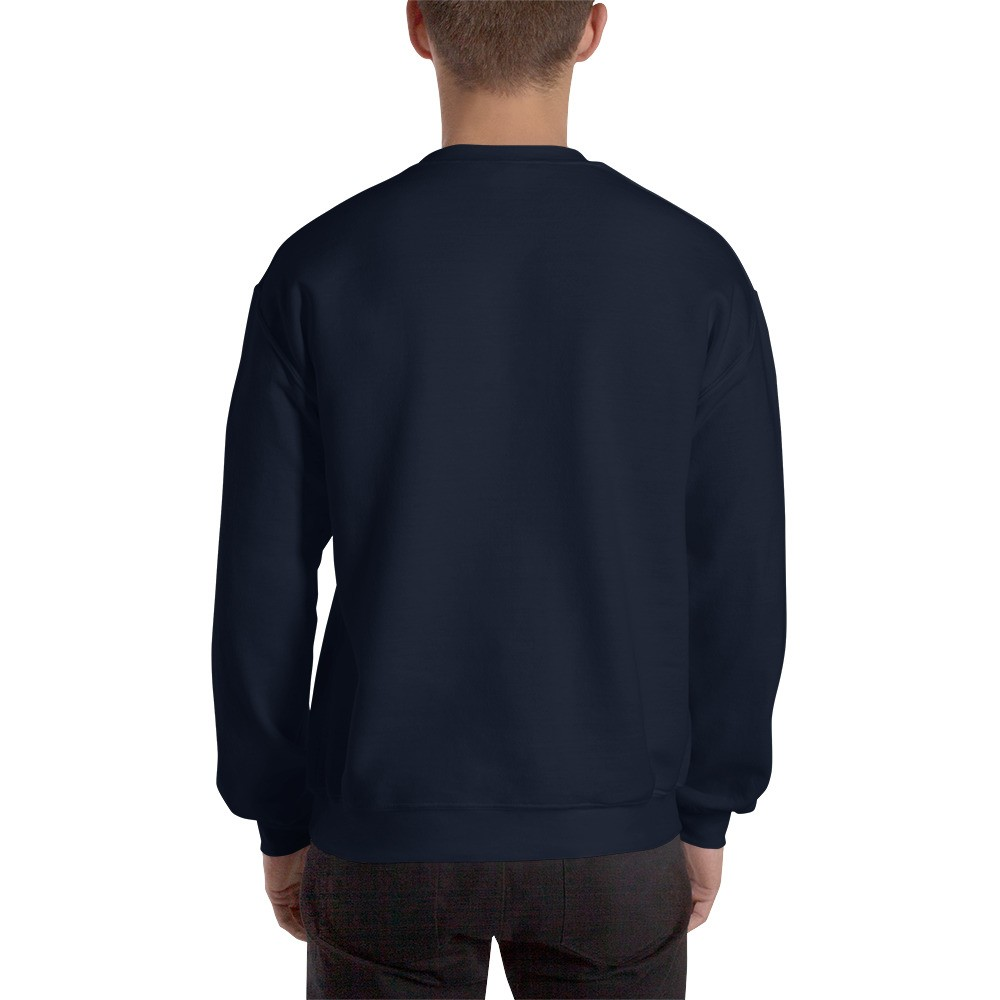 WEH0DL Crew Neck Sweatshirt – NAVY– FRONT GRAPHIC – FOURTH VIEW