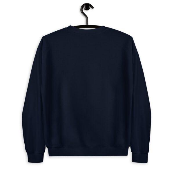 WEH0DL Crew Neck Sweatshirt – NAVY BLUE FRONT GRAPHIC – SECOND VIEW