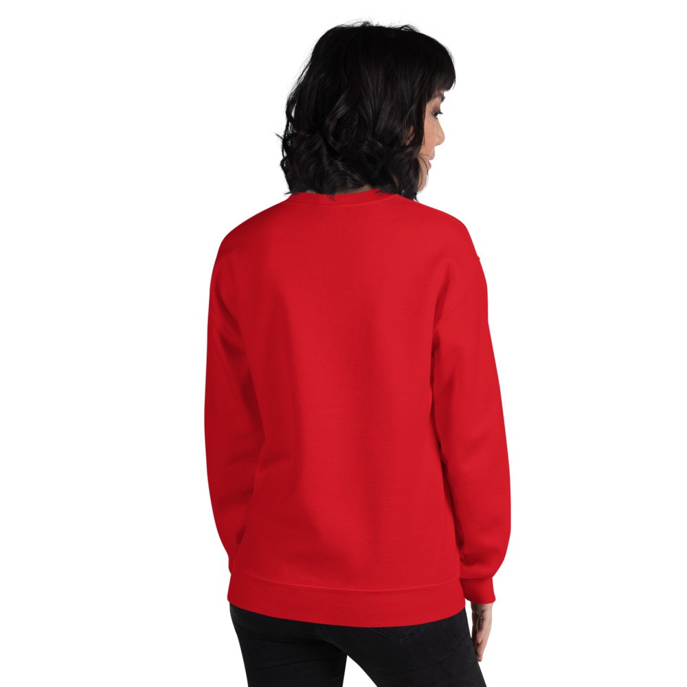 WEH0DL Crew Neck Sweatshirt – RED FRONT GRAPHIC – SIXTH VIEW