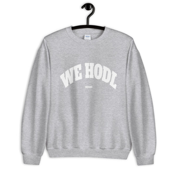 WEH0DL Crew Neck Sweatshirt – SPORT GREY FRONT GRAPHIC – FIRST VIEW