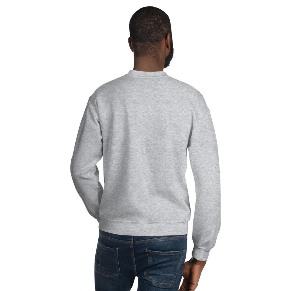 WEH0DL Crew Neck Sweatshirt – SPORT GREY FRONT GRAPHIC – FOURTH VIEW