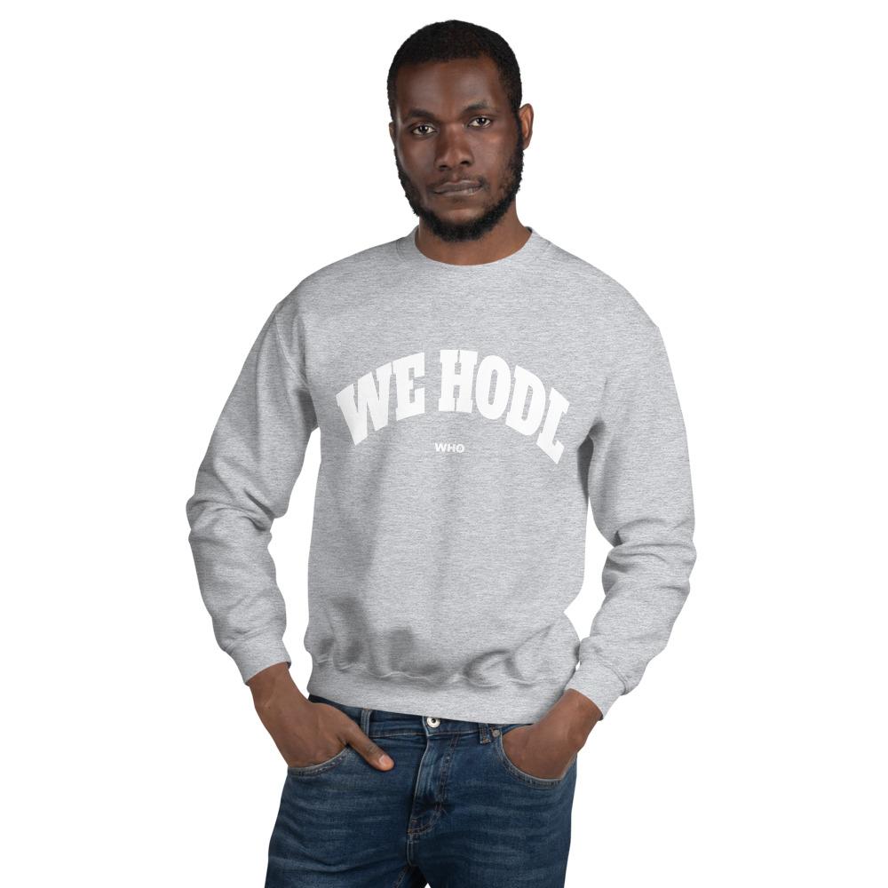 WEH0DL Crew Neck Sweatshirt – SPORT GREY FRONT GRAPHIC – THIRD VIEW