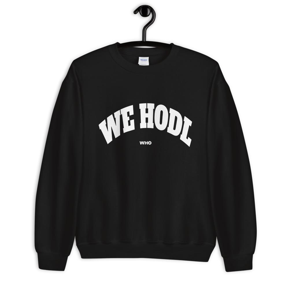 WE H0DL Crew Neck Sweatshirt BLACK 1
