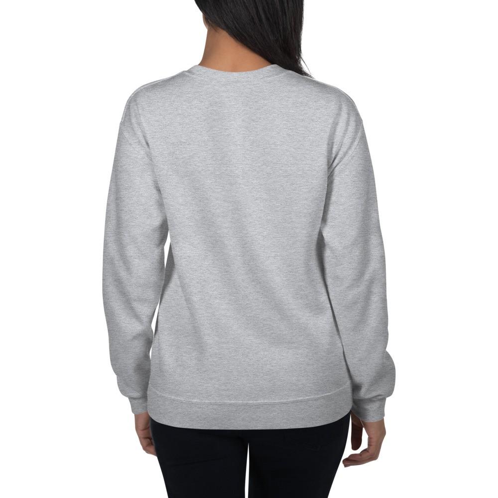 WEH0DL Crewneck Sweatshirt – GREY – FRONT GRAPHIC – SIXTH VIEW