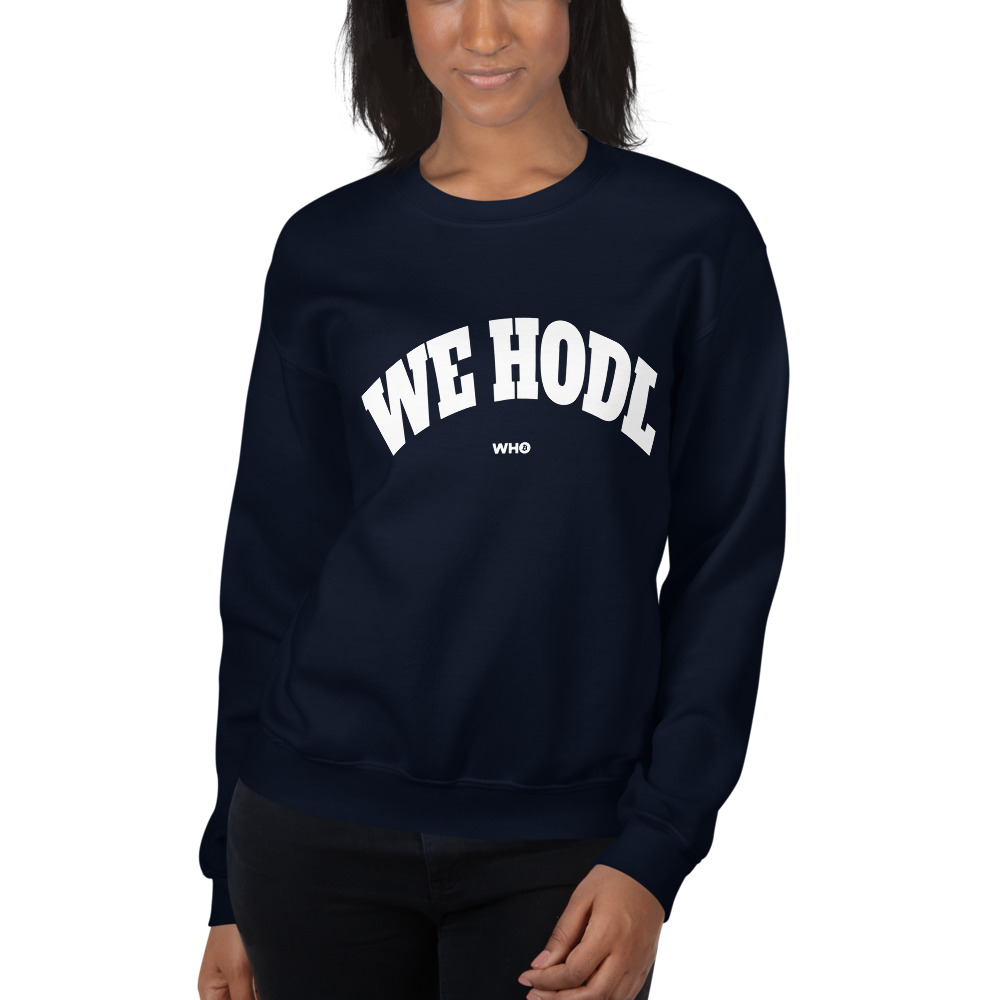 WEH0DL Crewneck Sweatshirt – NAVY BLUE – FRONT GRAPHIC – FIFTH VIEW