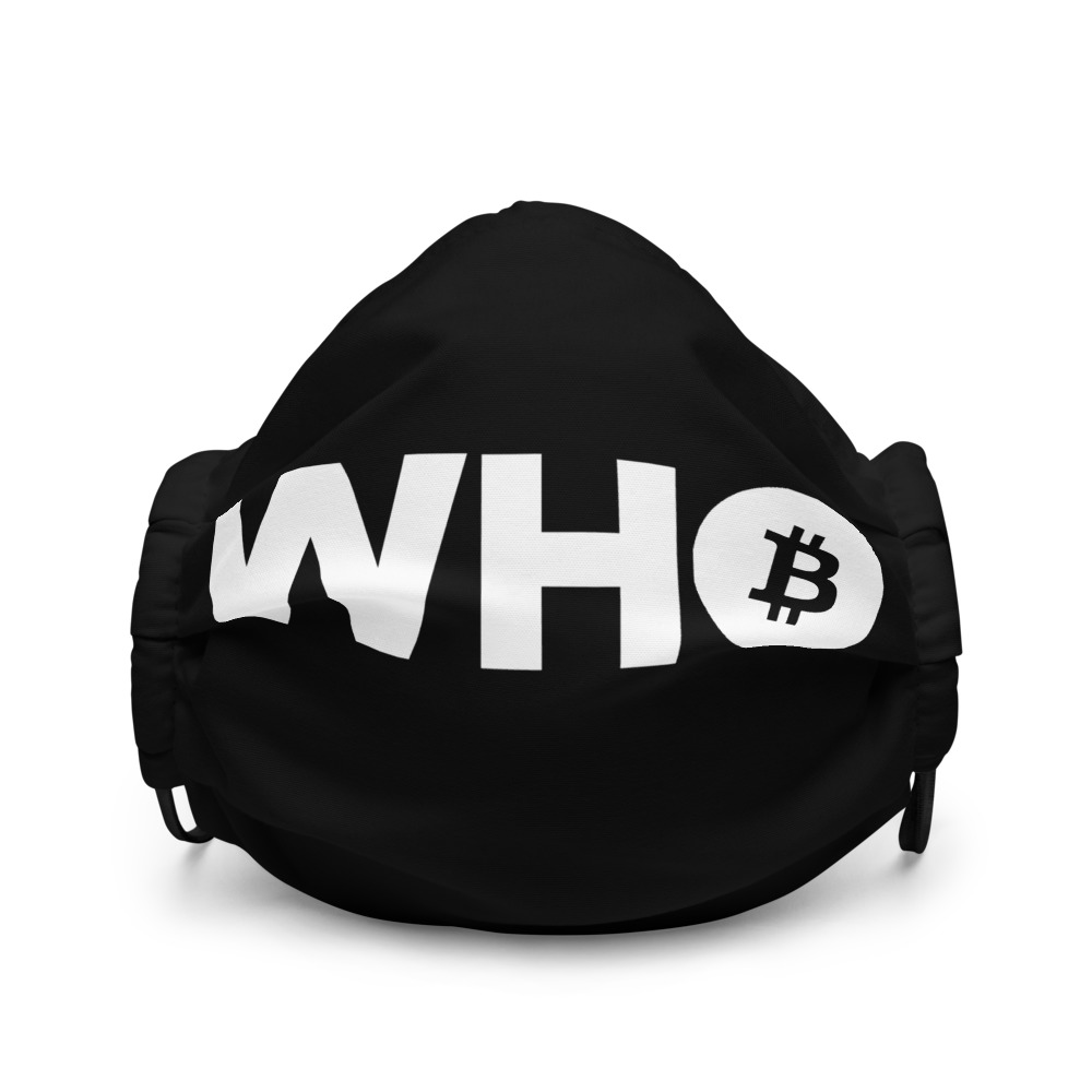 WEH0DL WHO Bitcoin Facemask – BLACK – FRONT GRAPHIC – FIRST VIEW 2 1