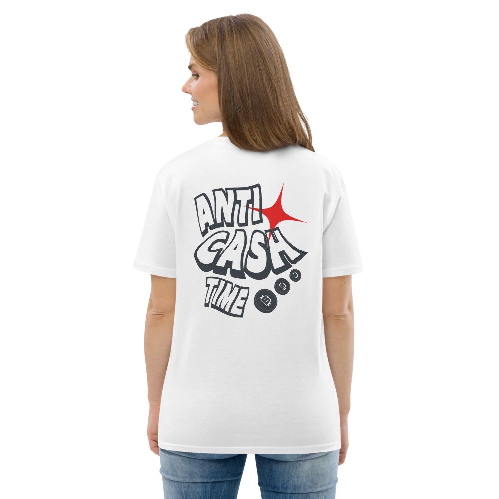 WEH0DL Bitcoin Anti Cash Time Cotton T Shirt WHITE 8