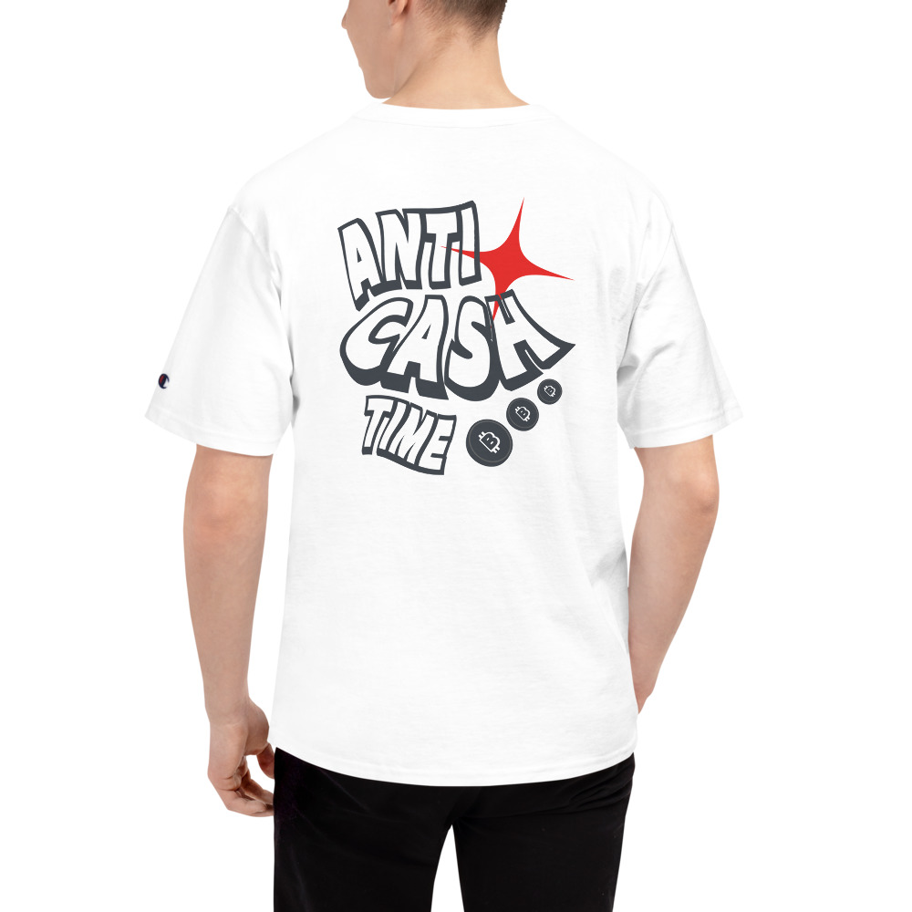 WEH0DL Bitcoin Anti Cash Time T Shirt WHITE 8