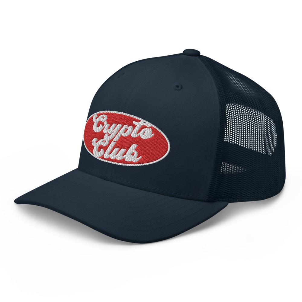 retro trucker hat navy left front 610ff14be735b