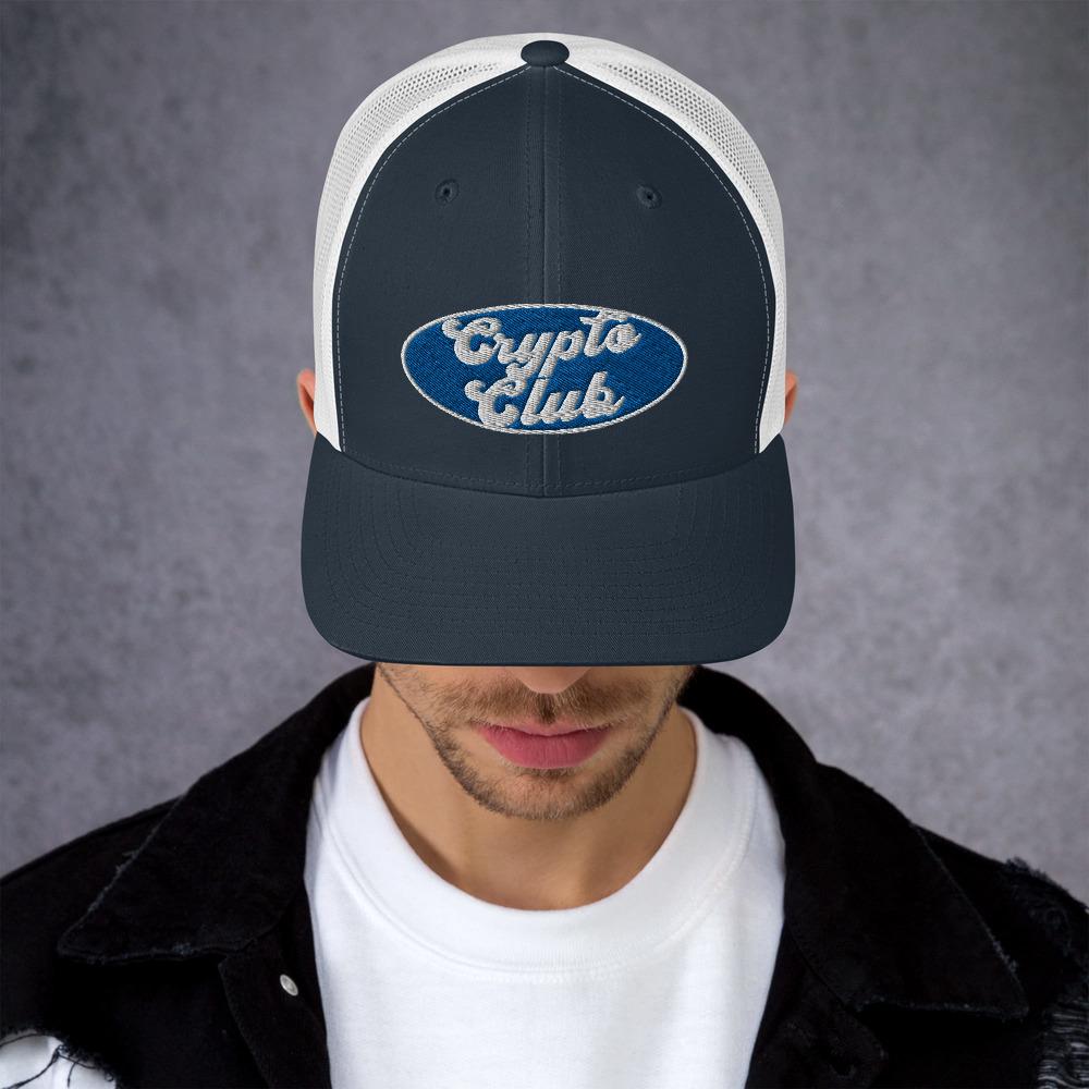 retro trucker hat navy white front 610ff8cd19315